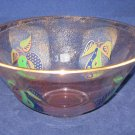 Georges Briard Forbidden Fruit Large  Glass Serving or Salad Bowl-Vintage