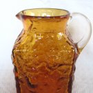 PILGRIM ROCK CRYSTAL AMBER BARK TEXTURED RECTANGULAR PITCHER