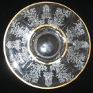 Paden City Glass Gazebo / Utopia Etch Gold Trim Serving Plate 10.5""