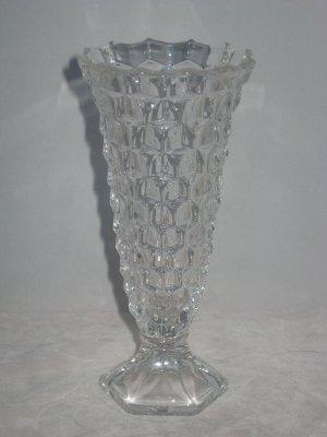 Fostoria American Flared Bud Vase Hex Footed-Vintage