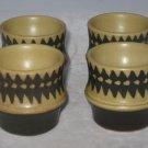 Goebel W Germany Set 4 Mid Century Modern Egg Cups-Retro