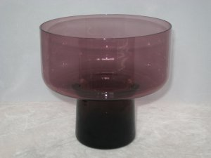 Morgantown Glass #9930 Susquehanna Candle Vase 1960s Danish Modern