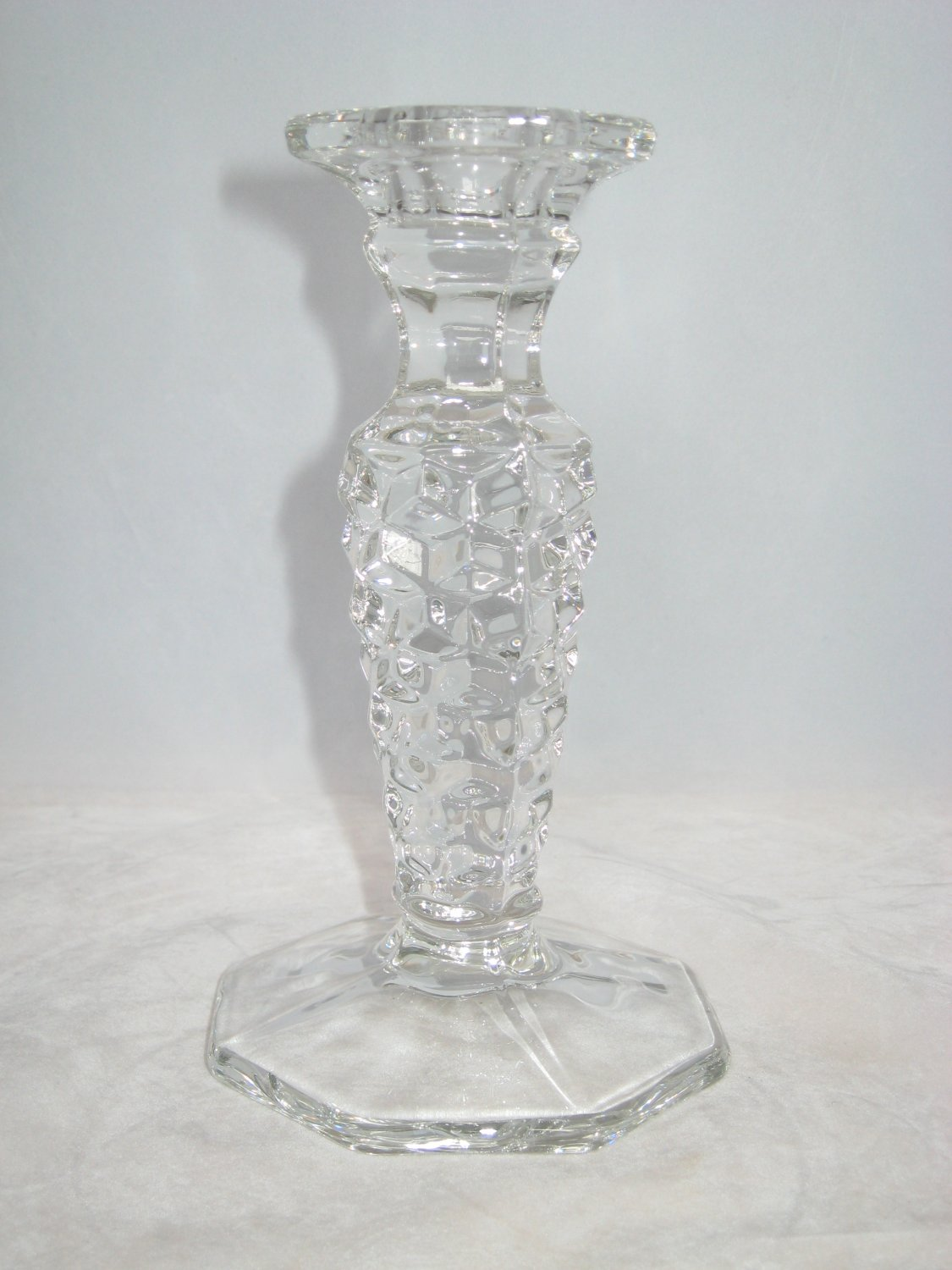 """Fostoria American 6-1/4"""" Candlestick Octagon Footed"""