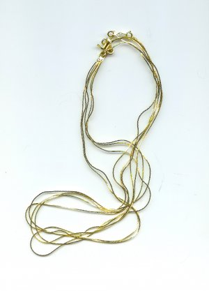Cobra Style Flat Chains Gold-plated 24 inch length 5 pcs FREE SHIPPING