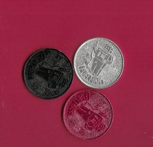 Fuel Man Tokens  Aluminum    3pcs  Red Black Silver Collectibles FREE SHIPPING