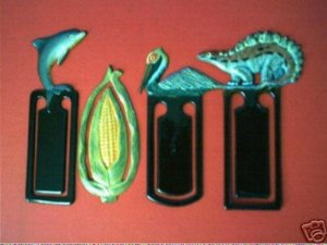 4 COLORFUL COLLECTIBLE BOOKMARKS LOT B FREE SHIPPING