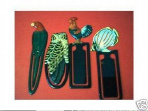 4 COLORFUL COLLECTIBLE BOOKMARKS LOT 8 FREE SHIPPING