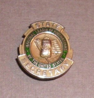National League of Postmasters of the United States State Secretary Pin Vintage