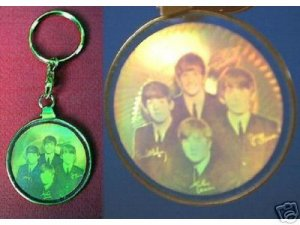 Beatles Holograph Hologram Key Ring key Chain FREE SHIPPING