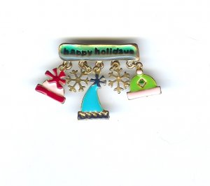 Christmas Holliday Pin  FREE SHIPPING
