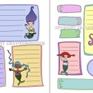 Mini Mermaid Journal Note Spots