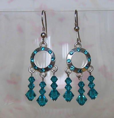 Ring of Crystals Blue Zircon