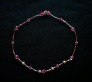 Dark Pink Necklace