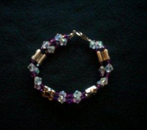 Purple Swarovski Crystal Bracelet