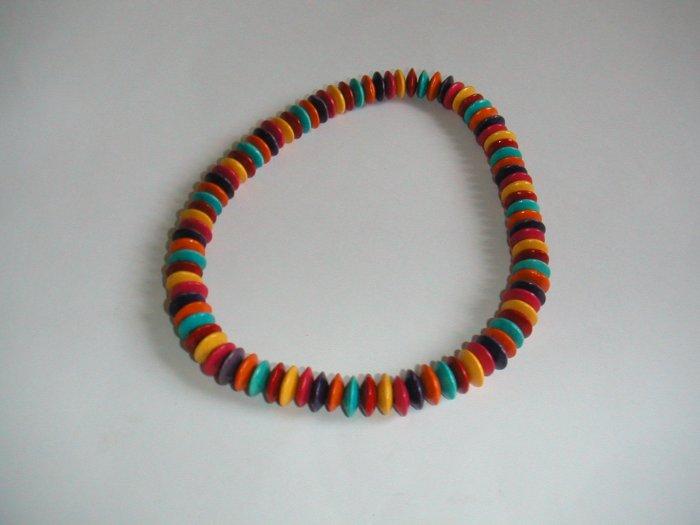 necklace wooden bean