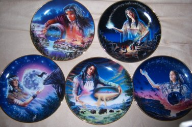 Set of Five Franklin Mint Native American Maiden Royal Doulton ...