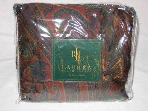 Ralph Lauren GREYCLIFF PAISLEY Cal King Bedskirt 1stQ