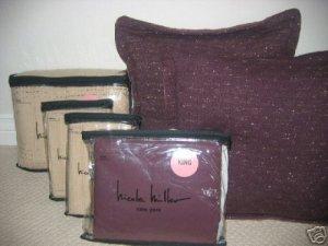 Nicole Miller URBAN CHIC Purple Deco Pillow 1stQual