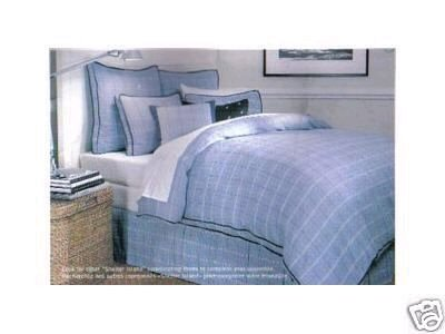 Nautica SHELTER ISLAND BLUE 3P Twin Duvet Cover