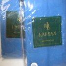 2 Ralph Lauren BEACHSIDE Blue Std Shams NIP