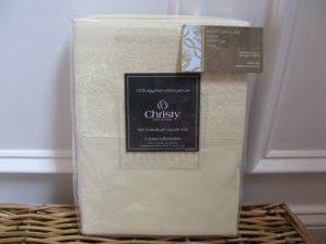 Christy LILY Embroidered Std Pillowcases Pair 464tc