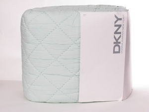 2 DKNY Botanical Cross Seafoam King Quilted Shams