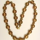 GOLDSTONE & COPPER BEAD NECKLACE