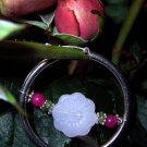 Rose Quarz/Jade/Peridon/Sterling silver HOOPs