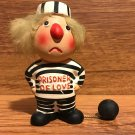 Vintage Enesco Ceramic Prisoner of Love Figurine with Ball & Chain - 1970's