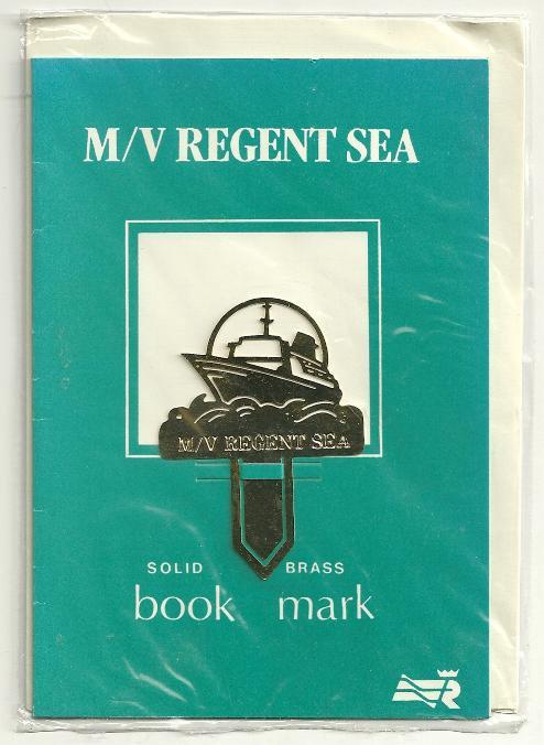 MV REGENT SEA Regent Cruise Line Solid Brass Bookmark
