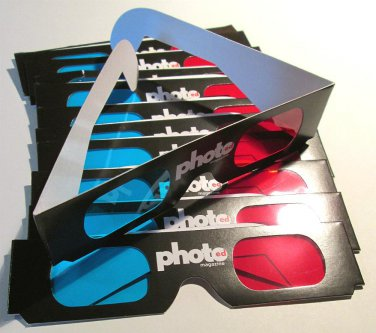 12 Pairs of Cardboard 3D GLASSES