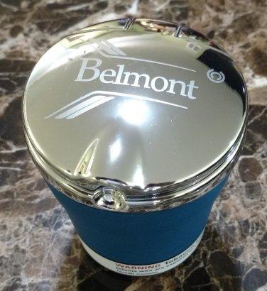 Belmont Canadian Cigarettes LED Flip Top Chrome and Plastic Ashtray