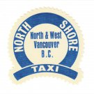 NORTH SHORE TAXI Vintage Fabric or Vinyl Jacket Crest