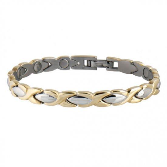 Sabona 332 Lady Executive Dress Gold Duet Magnetic Bracelet