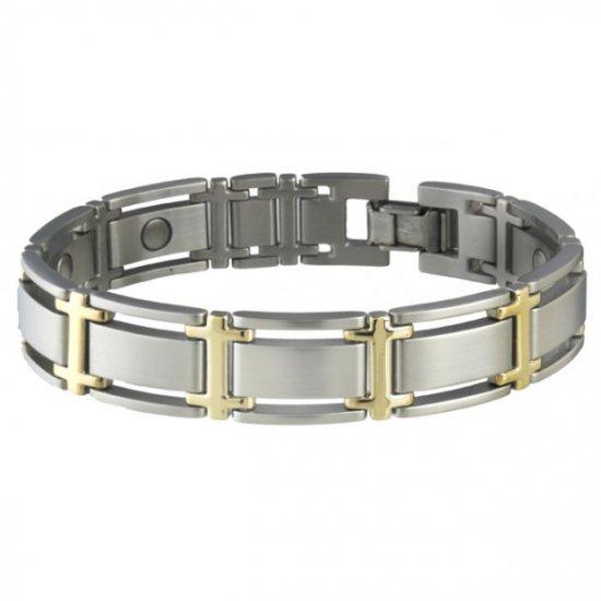 Sabona 346 Executive Symmetry Duet Magnetic Bracelet - SIZE MEDIUM