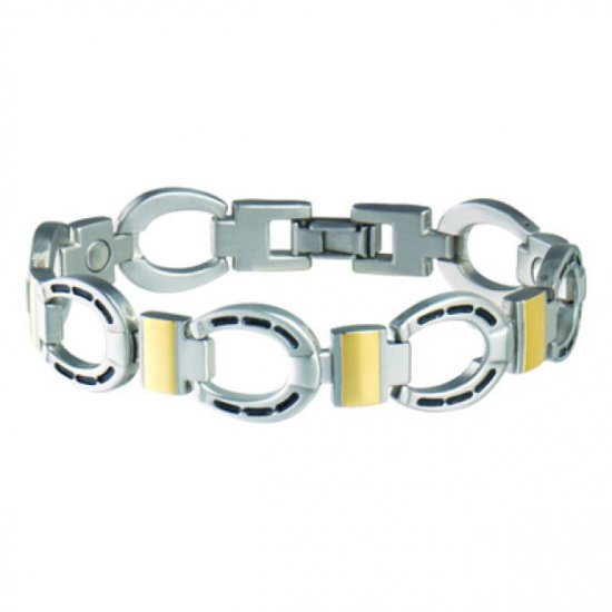 Sabona 227 Men's Horseshoe Duet Magnetic Bracelet  ***FREE SHIPPING***
