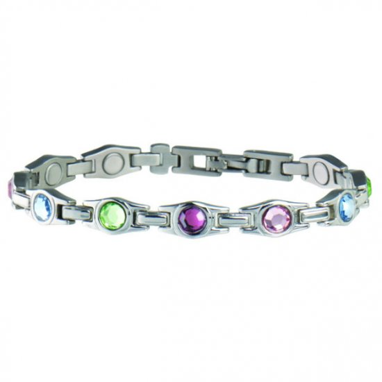 Sabona 312 Lady Executive Multicolor Gem Magnetic Bracelet  ***FREE SHIPPING***