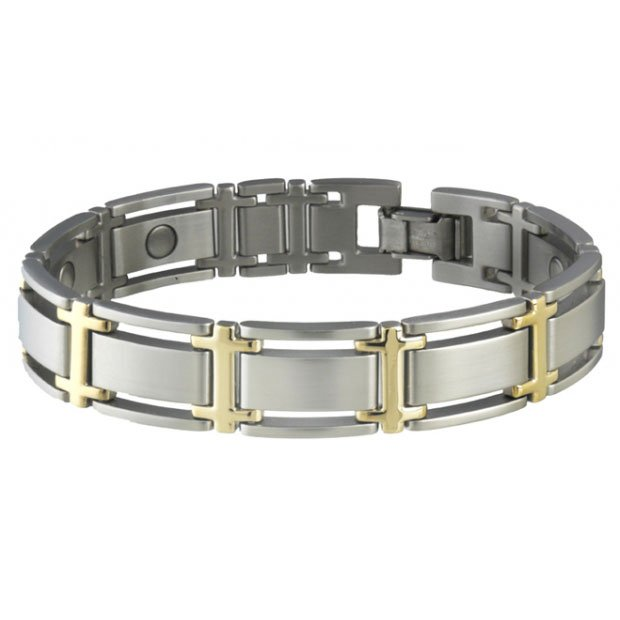 Sabona 346 Executive Symmetry Duet Magnetic Bracelet - SIZE LARGE