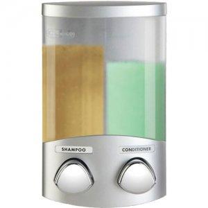 AVIVA Corner DUO Double Shower Soap Shampoo Dispenser - SATIN SILVER