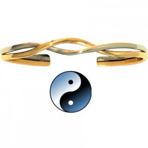 Sergio Lub 31 YIN YANG Ladies Copper Bracelet - SIZE MEDIUM