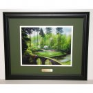 Augusta National Hole #12 Golden Bell Bridge 16 x 20 Framed Print