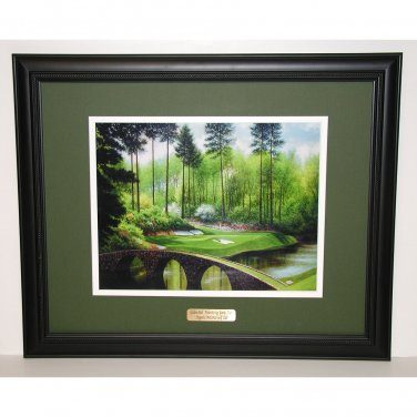 Augusta National Hole #12 Golden Bell Bridge 16 x 20 Framed Print
