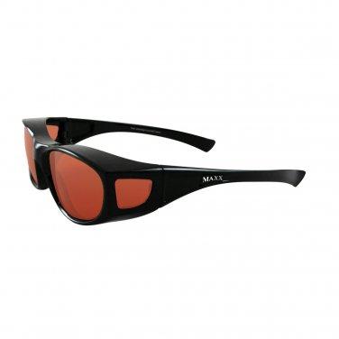 Maxx OTG Over the Glasses Black Polarized HD Sunglasses SMALL