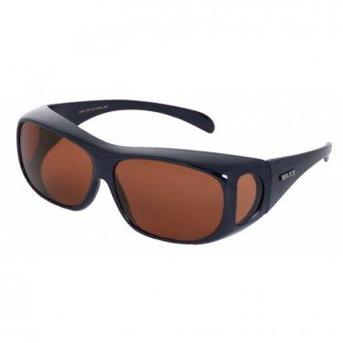 Maxx OTG Over the Glasses Black Polarized HD Sunglasses LARGE