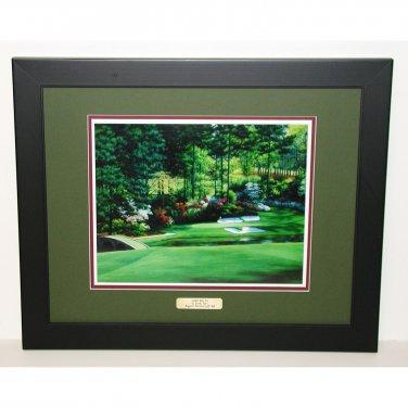 Augusta National Hole #12 Golden Bell 18 x 22 Framed Print