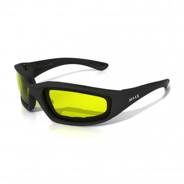 Maxx FOAM Motorcycle YELLOW Sunglasses