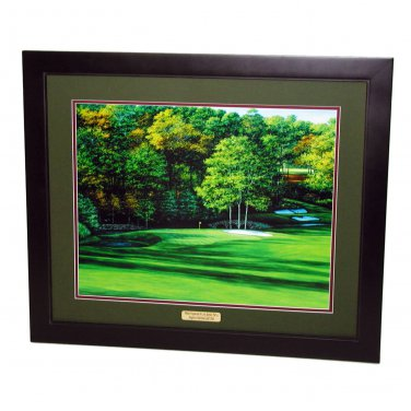 Augusta National Hole #11 White Dogwood Framed Print 24 x 30