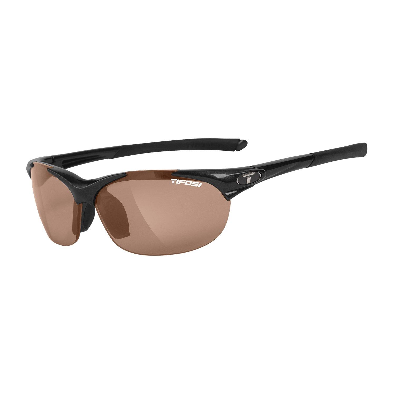 Tifosi WISP Gloss Black Brown Polarized CYCLING Sunglasses