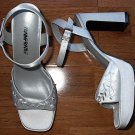 "Bridal Bride's Wedding Shoes Size 7.5 7 1/2 M 4"" Heals White"