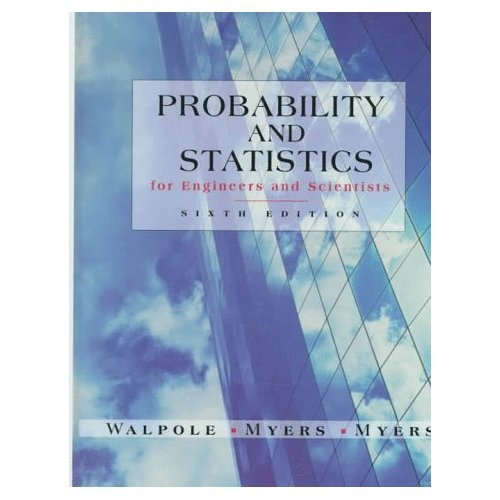 Probability and Statistics for Engineers and Scientists 6th Edition Book (Hard Cover) 9780138402082